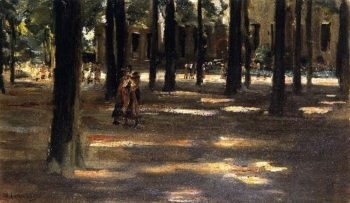 Going to School in Laren Composition Study | Max Liebermann | oil painting