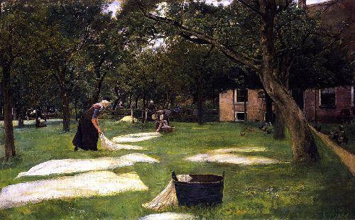 Bleaching Field at Zweeloo | Max Liebermann | oil painting