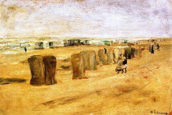 Beach Scene at Noordwijk 1   Max Liebermann   oil painting