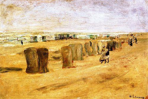 Beach Scene at Noordwijk 1 | Max Liebermann | oil painting