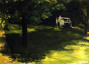 Bench beneath the Chestnut Tree in the Wannsee Garden | Max Liebermann | oil painting
