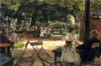 Restaurant Garden | Max Liebermann | oil painting
