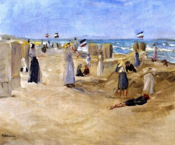 On the Beach at Noordwijk | Max Liebermann | oil painting