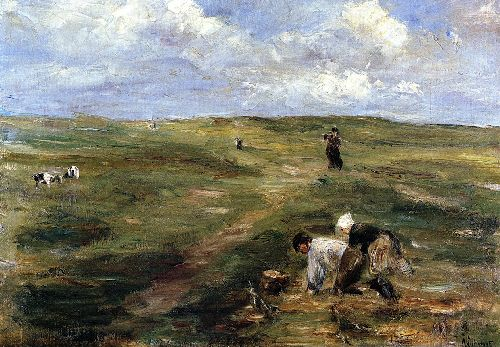 Digging for Potatoes in the Dunes at Zandvoort | Max Liebermann | oil painting