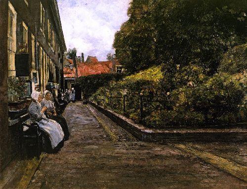 Stevenstift in Leiden first version | Max Liebermann | oil painting