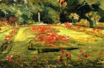 The Terrace in the Wannsee Garden toward the North | Max Liebermann | oil painting