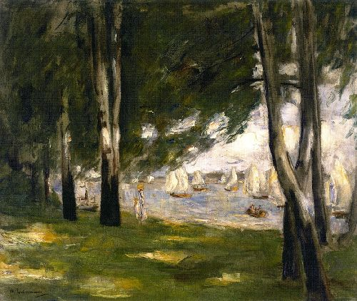 Birches on the Wannsee Shore toward the East | Max Liebermann | oil painting
