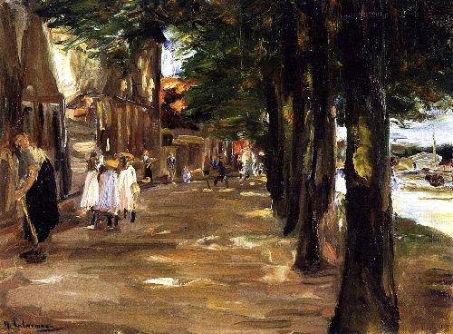 Canal in Edam   Max Liebermann   oil painting