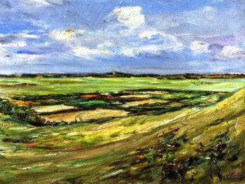 Dunes at Noordwijk Landwards View from a Dune | Max Liebermann | oil painting