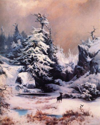 Winter in the Rockies | Thomas Moran | oil painting