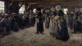 The Flax Barn at Laren | Max Liebermann | oil painting