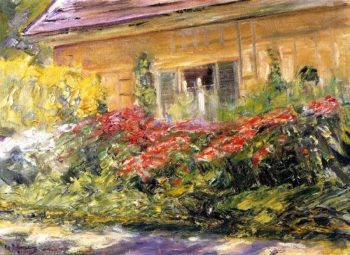 Flowers at the Gardener's House toward the North | Max Liebermann | oil painting