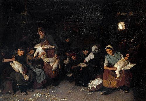 Women Plucking Geese   Max Liebermann   oil painting
