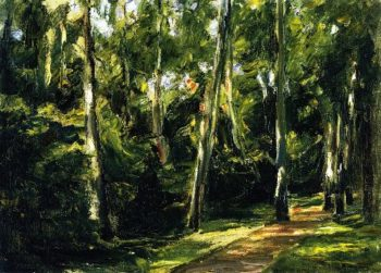 The Birch Avenue in the Wannsee Garden toward the Southwest | Max Liebermann | oil painting