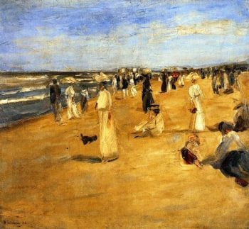 Beach Scene at Noordwijk | Max Liebermann | oil painting