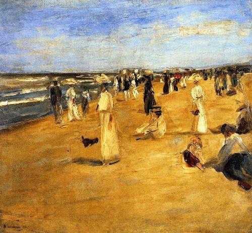 Beach Scene at Noordwijk | Max Liebermann | oil painting