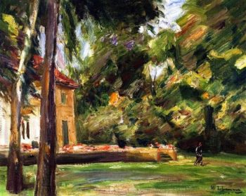 View from the Birch Avenue toward the Northwest | Max Liebermann | oil painting
