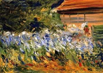 Flowers at the Gardener's House | Max Liebermann | oil painting