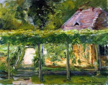View over the Tall Linden Hedge into the Cutting Garden toward the West | Max Liebermann | oil painting