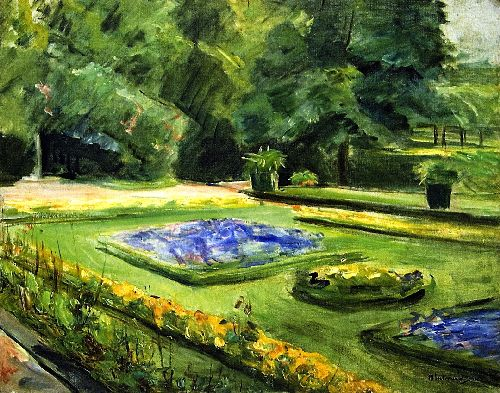 The Terrace in the Wannsee Garden toward the Northeast   Max Liebermann   oil painting