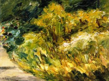 Flowers at the Gardener's House toward the Northwest | Max Liebermann | oil painting