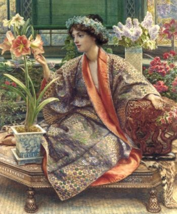 A Hot House Flower | Sir Edward John Poynter | oil painting