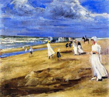 The Beach at Noordwijk | Max Liebermann | oil painting