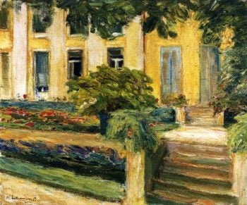 Terrace in the Garden near the Wannsee toward Southwest | Max Liebermann | oil painting