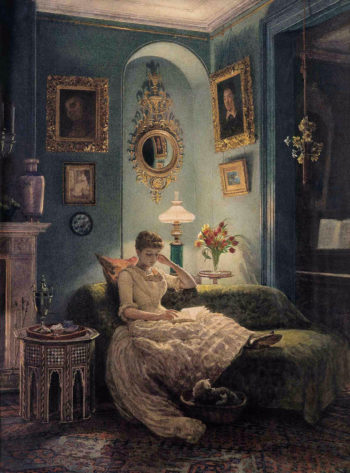 An Evening at Home | Sir Edward John Poynter | oil painting