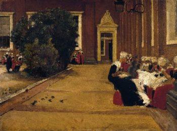 Orphan Girls in Amsterdam   Max Liebermann   oil painting
