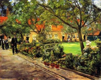 Hospital Garden in Edam | Max Liebermann | oil painting