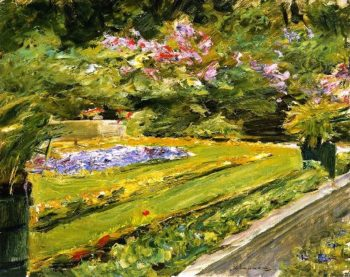 The Terrace in the Wannsee Garden toward the Northwest | Max Liebermann | oil painting