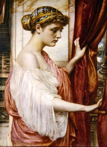 At The Window | Sir Edward John Poynter | oil painting