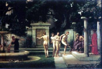 A Visit To Aesclepius | Sir Edward John Poynter | oil painting