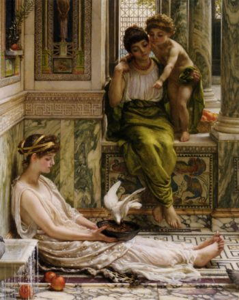 Corner Of The Villa | Sir Edward John Poynter | oil painting