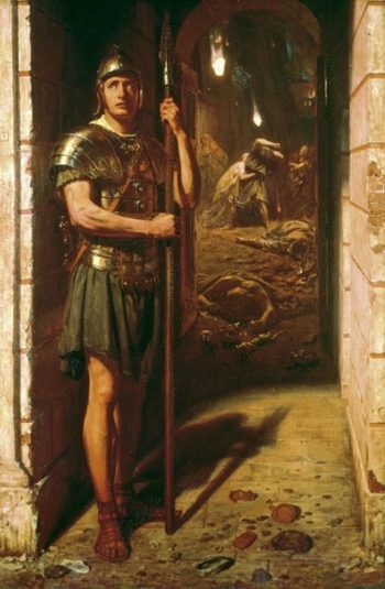 Faithful Unto Death | Sir Edward John Poynter | oil painting