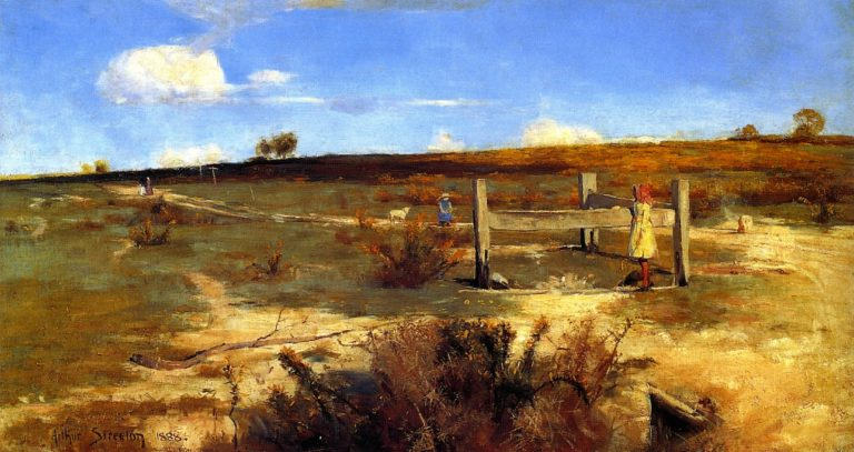 Early Summer Gorse in Bloom | Sir Arthur Streeton | oil painting