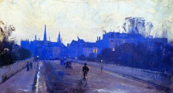 Albert Street East Melbourne | Sir Arthur Streeton | oil painting
