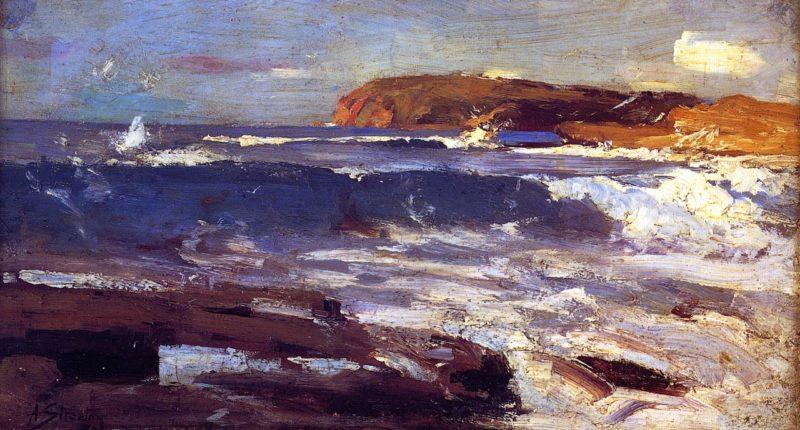 An Impression from the Deep | Sir Arthur Streeton | oil painting