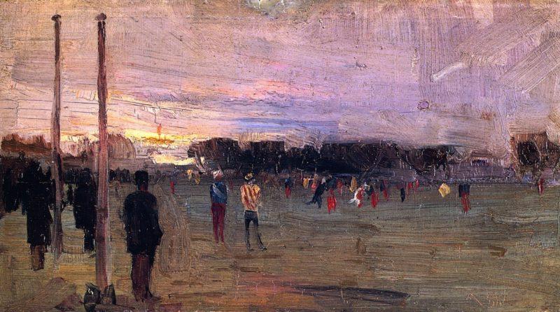 The National Game | Sir Arthur Streeton | oil painting