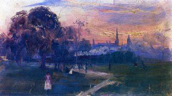 Evening Game | Sir Arthur Streeton | oil painting