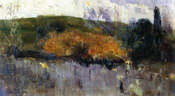 Yellow and Gray | Sir Arthur Streeton | oil painting