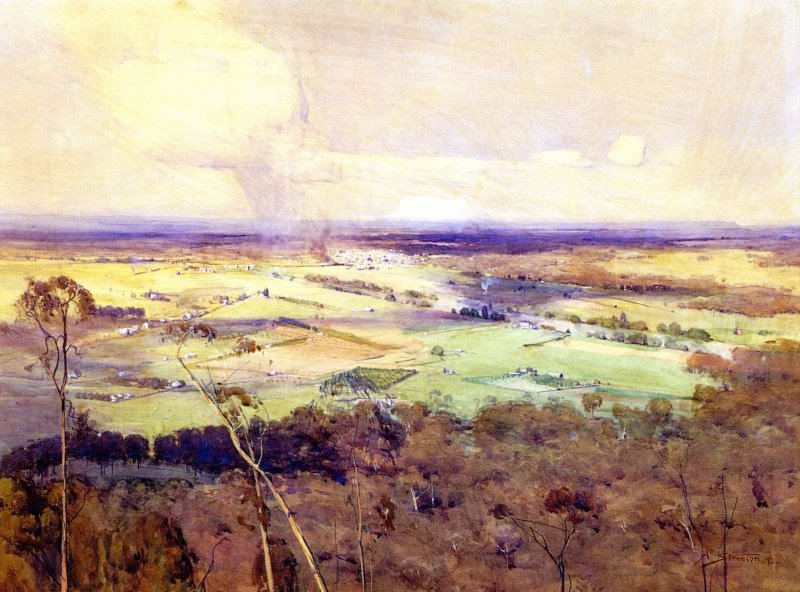 The Valley of the Nepean   Sir Arthur Streeton   oil painting