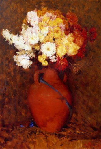 Chrysantheums | Sir Arthur Streeton | oil painting