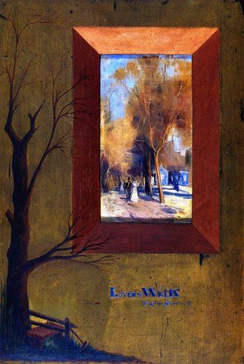 The Lover's Walk | Sir Arthur Streeton | oil painting
