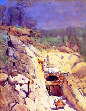 Blue Mountain Tunnel | Sir Arthur Streeton | oil painting