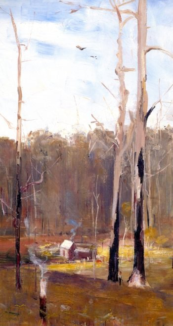 A Primeval Clearing Gembrook | Sir Arthur Streeton | oil painting