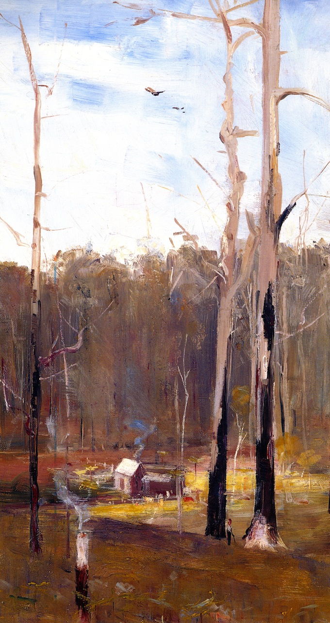 A Primeval Clearing Gembrook   Sir Arthur Streeton   oil painting