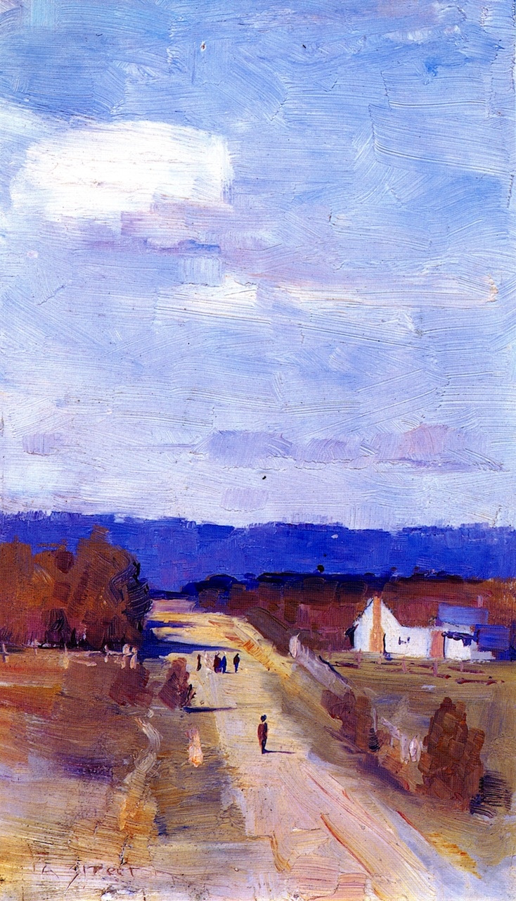 A Road to the Ranges   Sir Arthur Streeton   oil painting