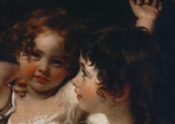 The Calmady Children Emily Calmady 1818 1906 and Laura Anne Calmady 1820 94 Detail | Sir Thomas Lawrence | oil painting